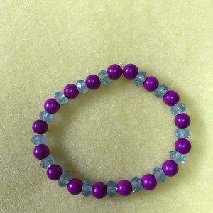 Magenta Light Blue Bracelet